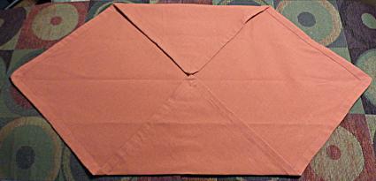 Napking folding step 1