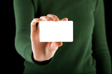 credit card for origami