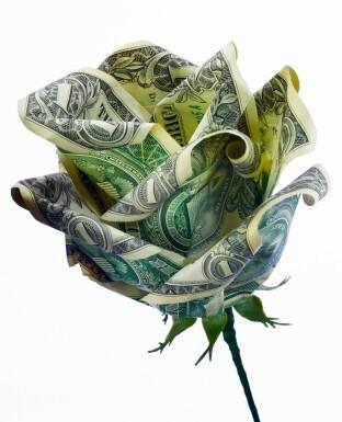 dollar bill origami flower. Make flowers out of dollar