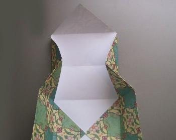 Step 4 in Origami Box Instructions