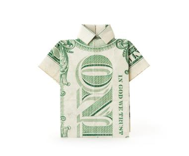 How to Make an Origami Shirt With Tie From a Dollar Bill