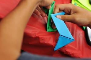 Try making origami swords.