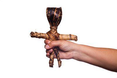 Wooden juju doll