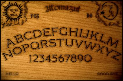 Example of Ouija board; copyright Atomazul at Dreamstime.com