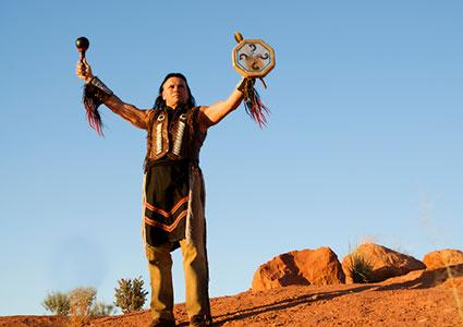 Native American giving blessing