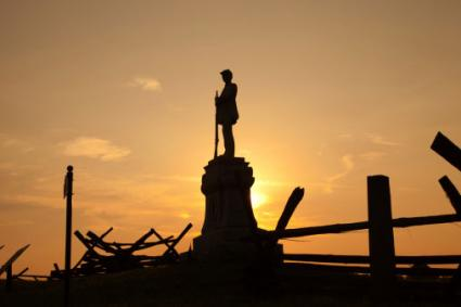 Civil War monument at Bloody Lane, Antietam Battlefield