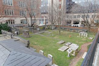 Burying ground at Westminster Presbyterian Church