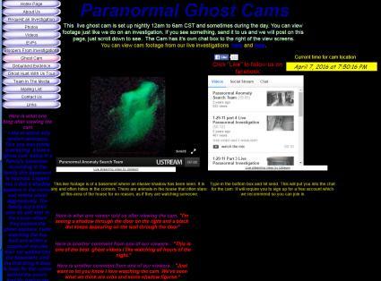 """Screenshot of Basement """"Paranormal Ghost Cam"""""""