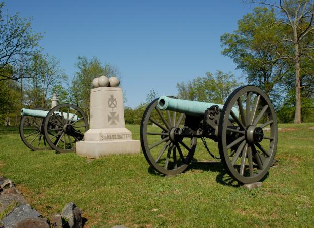 Artillery battery at Gettysburg