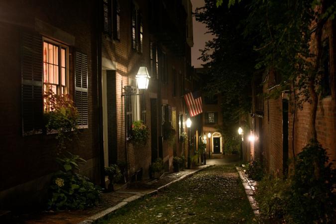 Ghost walk through Boston