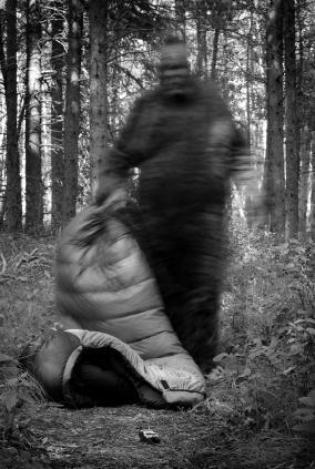 Blurred photo of Sasquatch impersonator