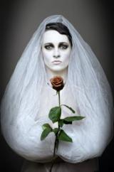 Unhappy spirit bride