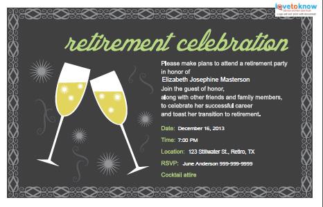 retirement party invitations, Birthday invitations