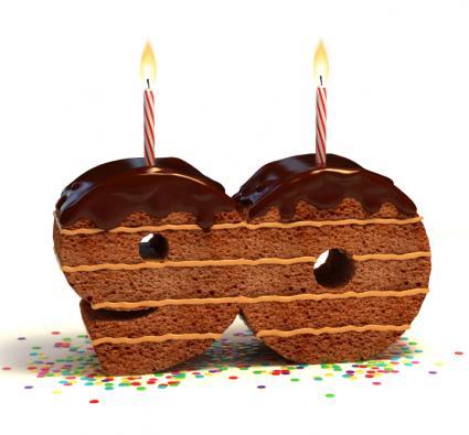 90th chocolate cake