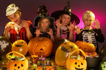 kids at halloween party - Kids At Halloween