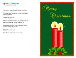 Vertical Christmas Invitation with Candles