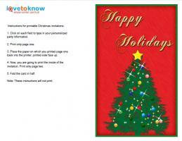 Vertical Christmas Tree Invitation