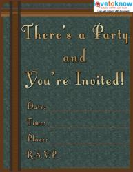 Masculine Party Flyer
