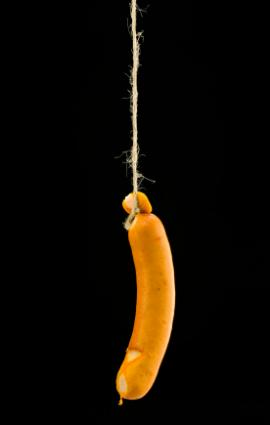 Hotdog on a string