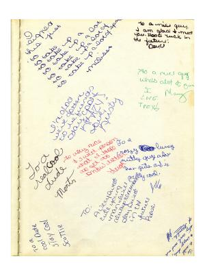 Signed yearbook