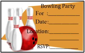 Free Bowling Party Invitations | LoveToKnow