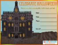 Scary House Invite