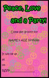 Retro teen party invite