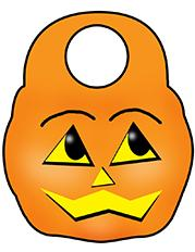 Halloween pumpkin door hanger