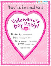 Kids Valentine's Day party invitation