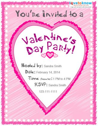 Valentines Day Party Invitation Options