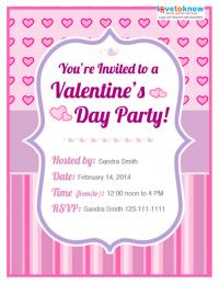 Teen Valentine's Day party invite