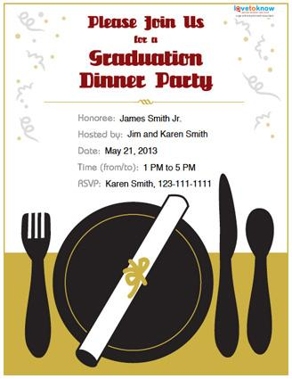 Graduation Dinner Invitations could be nice ideas for your invitation template