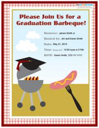 College grad bbq party invitation