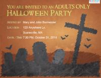 adult Halloween invitation