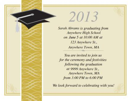 Free Printable Graduation Invitations – Ceremony Invitation Template