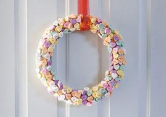 conversation heart wreath