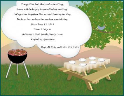 Mother's Day Cookout Invitation