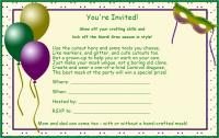 Kids Mardi Gras party invitation