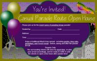Parade mardi gras invitation