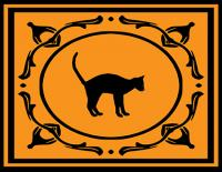 Black cat Halloween placemat