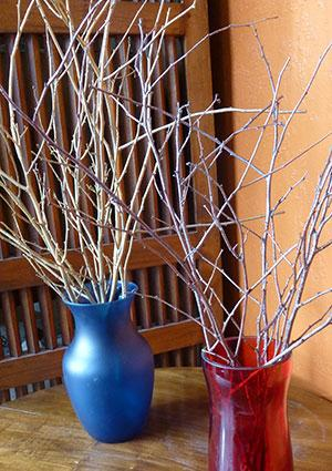 Glittering branches craft project