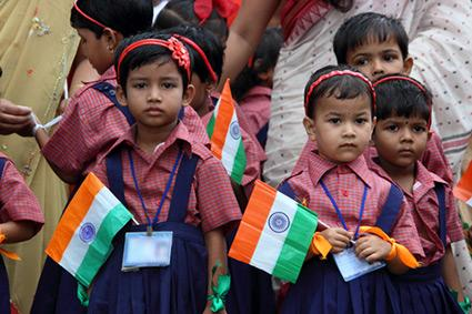 Indian Independence Day celebration by school kids