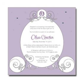 Fairy Tale Carriage Invitation from Quinceaneracards.net