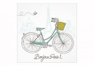 Bicycle in Paris Invitations