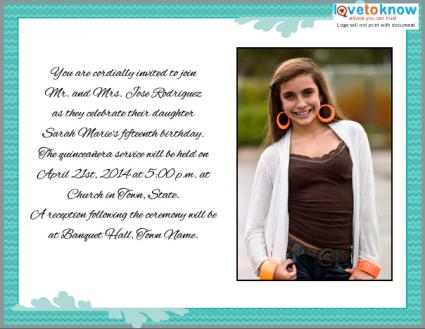 quinceanera invitation wording in spanish