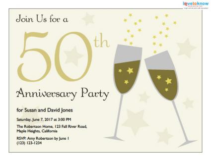 50Th Anniversary Party Invitations gangcraftnet
