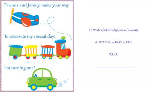 Baby 1st birthday party invitation