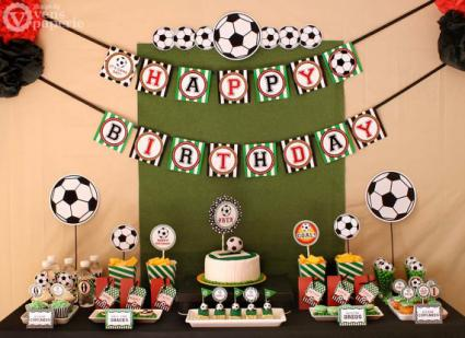 Soccer Birthday Party Package by Vens Paperie