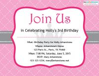 Princess birthday party invitation