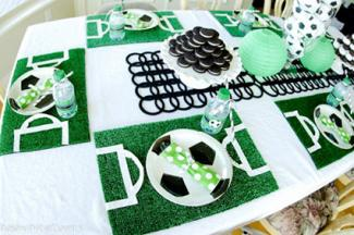 Soccer Party Table Decorations
